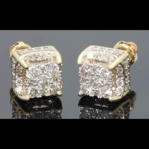Jewelry - 🔴🔴Earrings 925 SS and gold rhodium and CZ